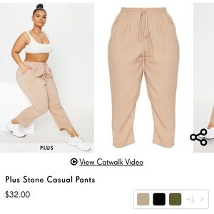 Plus Stone Casual Pants